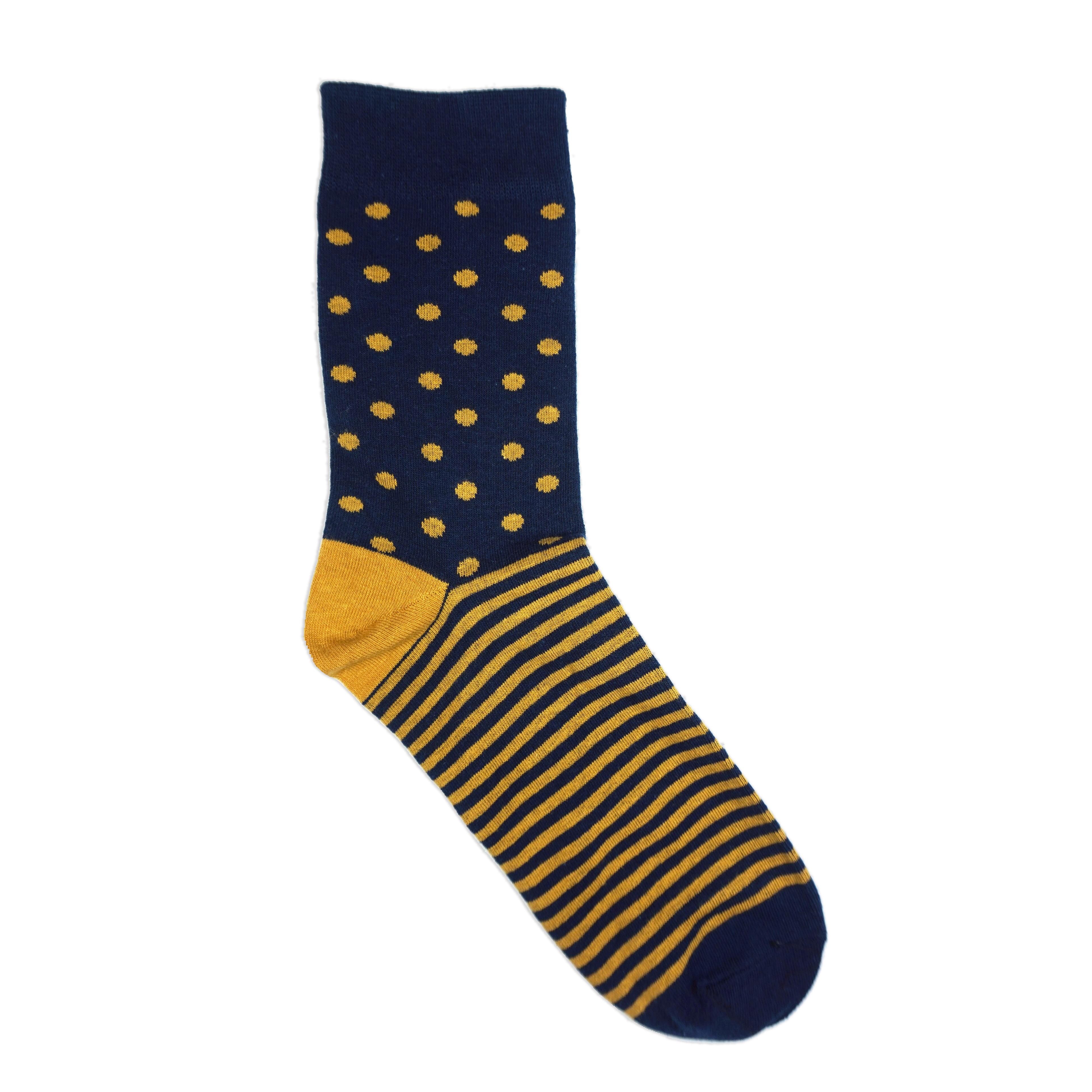 polka stripe dress socks