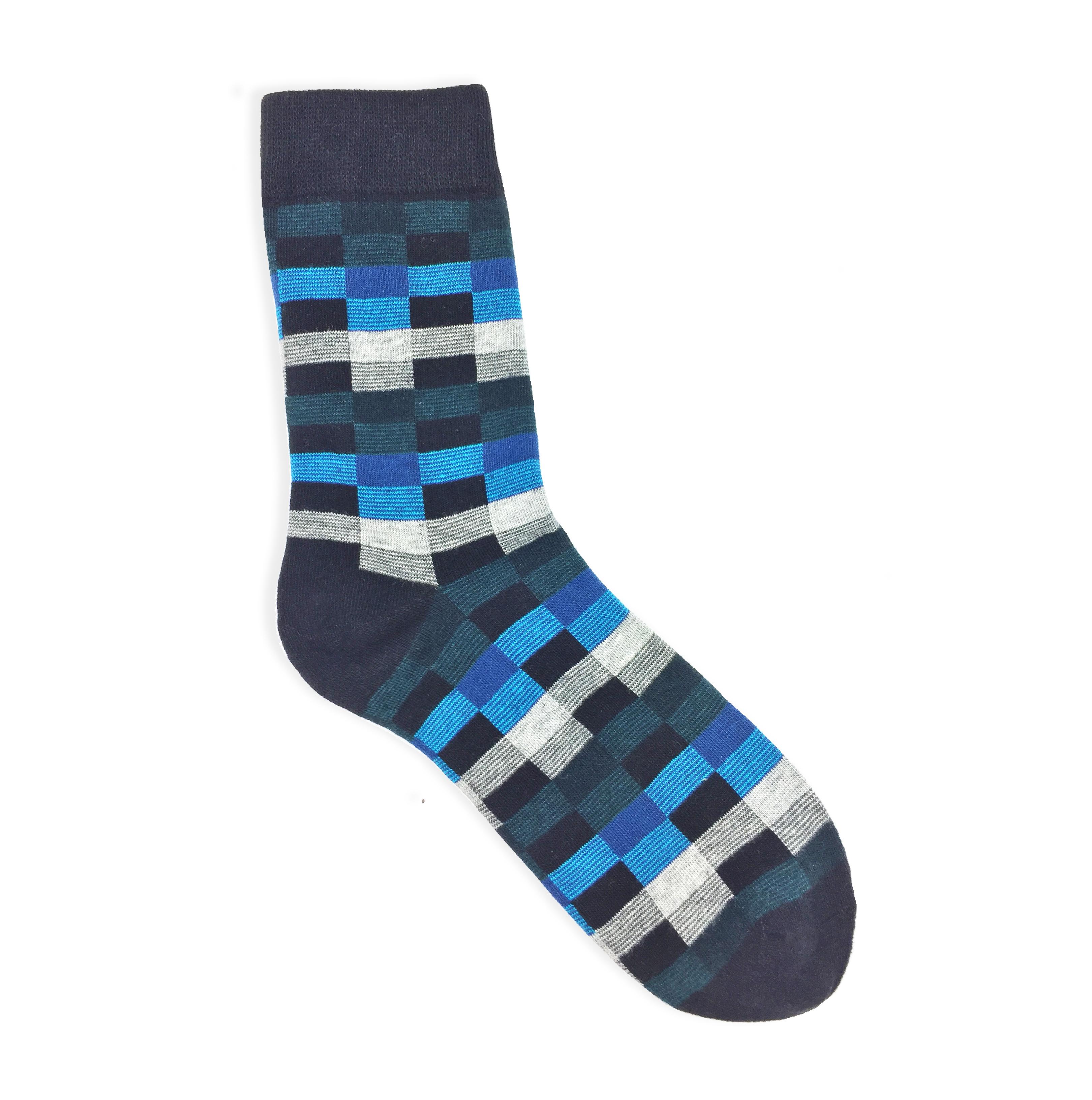checker dress socks
