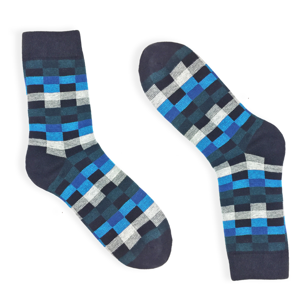checker dress socks